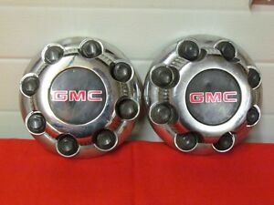 GMC Chrome Center Caps to fit 3/4 Ton with 8 Lug Wheels