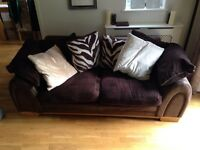 DFS half leather sofas