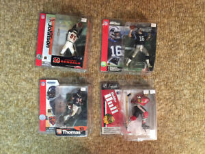 McFarlane Sports Figures NHL, NFL toys, toy, figure Lot 4