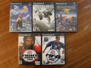 5 PLAYSTATION 2 GAMES