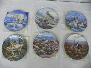 REDUCED - Treasures of the Arctic Joan Sharrock 6 Plate Set