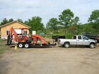 kubota backhoe for hire