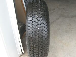 LT265/75R16 GOODYEAR WRANGLER ON BLACK GMC RIM
