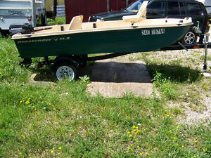 Bass fishing boat motor & trailer package for sale