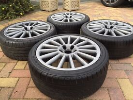 "18"" VW Jetta Golf GTi R32 Style GTi Alloy wheels Tyres Audi A3 Seat Caddy"