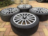 "18"" VW Golf GTi R32 Style MK5 GTi Alloy wheels Tyres Audi A3 Seat Leon Caddy"