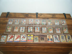 LOT VIEILLE CARTE DE HOCKEY ET BASEBALL 1951 A 1959