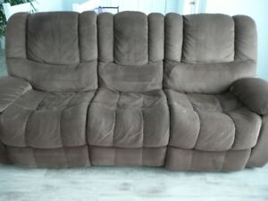 Sofa 3 places inclinable et fauteuil inclinable