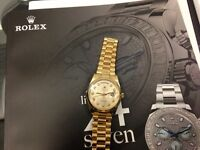 Rolex watches wanted top prices paid
