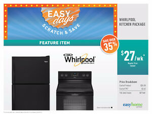 Whirlpool Kitchen Package! $27 /week No Credit Needed!!!