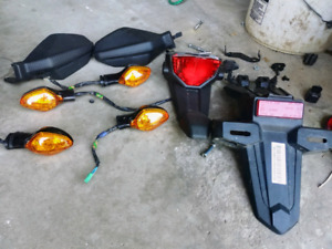Honda 250L rally. Signals tail light hand protection.