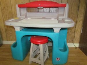 Child's desk and stool (Step 2 / Toys R Us)