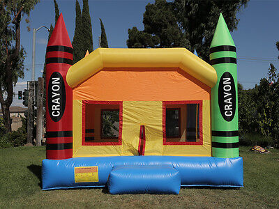 NEW Commercial Grade  Crayon Castle Inflatable Jumper Bounce House