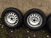 "VW Caddy 15"" Steel Rims 5x112 - Will fit Seat Audi Skoda not Alloys A4 Golf"