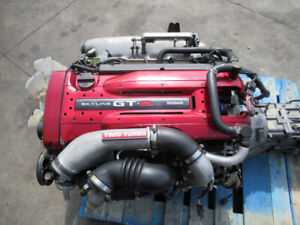 JDM NISSAN SKYLINE R34 GTR RB26DET ENGINE 6 SPEED GETRAG TRANSMI