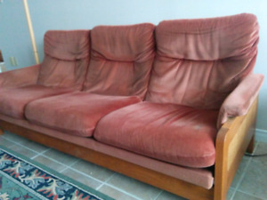Couch and 2 glider chairs