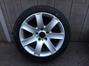 "BMW E46 Spare Rim and Tire 17"" Style 44 325i, 330i, 328i"