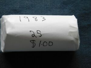 2-44 - 1983 CANADA ROLL OF COMMON NICKLE DOLLARS.