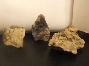 Décoration aquarium, roches  naturelles achetées chez Aquarius