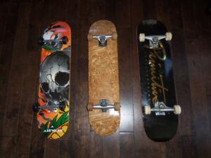 Planches à roulette Skate board de qualitée valeur 120$ chaque