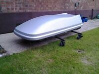 450 litre roof box in excellent condition - only used twice!
