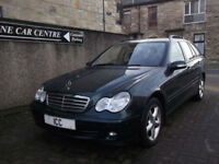 07 07 MERCEDES C180K CLASSIC ESTATE AUTO 5DR FULL BLACK LEATHER LOW MILES ALLOYS