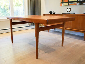 Beautiful Teak Extendable Dining Table for Faarup Mobelfabrik