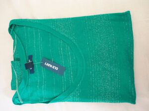 Women Old Navy green silver glitter threading striped top XS NWT London Ontario image 8