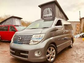 RUST FREE Nissan ELGRAND POP TOP 4 BERTH NEW SIDE CAMPER CONVERSION 2.5 V6 41K