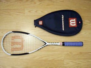 Wilson H160 Hammer Squash Racket with new grip ISOGRID tech