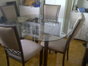 Bowring Glass Dining Table Set