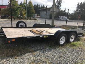 2016 - 16' Flat Deck Car/Equipment Hauler