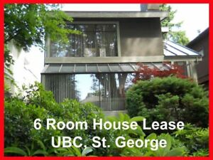 6 Room House Lease:4 bed rooms / 1 living room / 1 family room