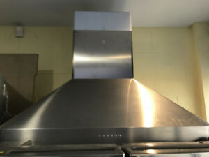 "Sirius 36"" chimney island hood fan SS $899"
