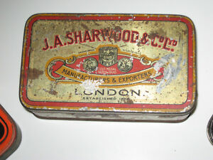 THREE INTERESTING OLD VINTAGE COLLECTIBLE TOBACCO TINS