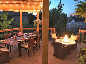 Firepit with 4 chairs