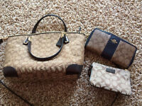 Coach purse, wallet, and wristlet