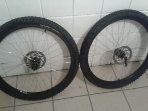 "29"" Alexrims,Shimano M475,Gusset single conversion, Ninja Rubber"