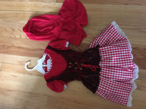 Toddler little red riding hood costume 2T-4T.