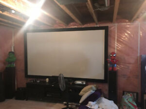 "119"" Panasonic 3D HD Home Theatre Projector w/ Screen & Surround"