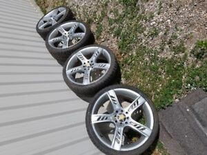 "18"" rare aluminum old school Focal rim's with carbon fiber caps"