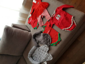 Car inserts and Christmas baby outfits
