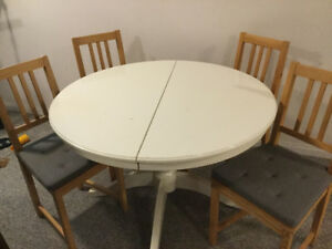 Ikea table and 6 chairs