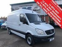 8bd6a4b543 2013 MERCEDES SPRINTER 313 2.1 CDI MWB HIGH ROOF 1 OWNER  FSH  12 MONTHS