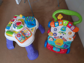 Vtech table and walker