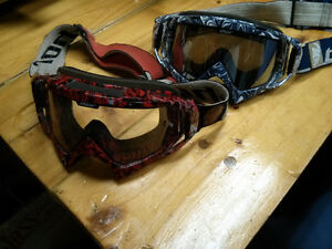 2 Pairs of Thor MX Goggles (1 tinted, 1 clear)