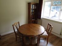 Dining room table, chairs, corner unit and bookcase -Ducal