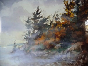 "Northern Landscape by Edwin Matthews ""Misty Bay"" L/E Stratford Kitchener Area image 2"
