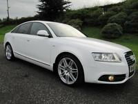 2010 Audi A6 Saloon 2.0TDI S-LINE **170 BHP**FACE LIFT MODEL**GLACIER WHITE**