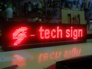 LED Sign $140 Programmable (EXTERIOR BRIGHTNESS) IN WINDOW